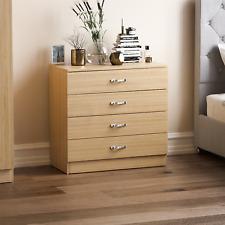Riano Pine 4 Drawer Wood Chest Metal Handles Bedroom Storage Furniture