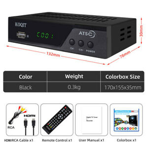 North America Digital Converter Box ATSC Tuner Tv Receiver Decoder Set Top Box