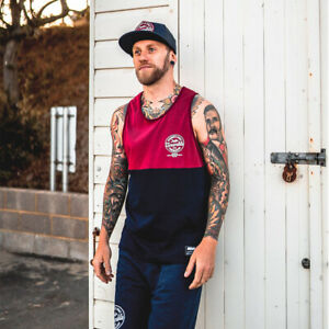 Scramble Technique and Spirit Tank Top - Red/Navy