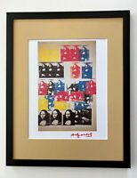 ANDY WARHOL AWESOME 1984 SIGNED MONA LISA PRINT MATTED TO BE FRAMED AT 11 X 14