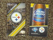 2015 Pittsburgh Steelers (National Football League) Bud Light pocket schedule
