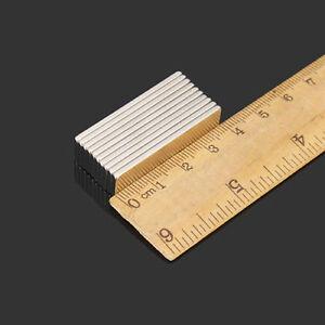10pcs N52 40x10x2mm Strong Block Cuboid Neo Magnets Rare Earth Neodymium Magnet