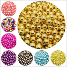 200Pcs 4mm Gold Spacer Round Loose Beads Jewelry Making DIY Garment Accessories