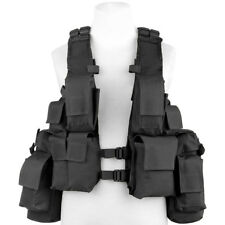 Mfh South African Assault Vest Patrol Combat Military Tactical Airsoft Black