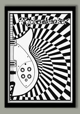 PSYCHEDELIC GIUTAR POSTER LARGE A2  (40 X 60 CM ) PRINT