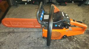 """DOLMAR PS-401 chainsaw with 14"""" bar, chain and bar cover."""