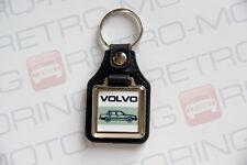 Volvo 700 740 760 Keyring - Leatherette & Chrome Retro Classic Car Auto Keytag