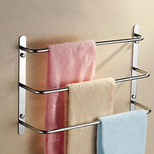 "18.9"" Stainless Steel Wall Mounted Bathroom Hang Towel Rack Holder Rail Shelf US"