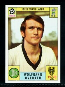 SUPERB PANINI MEXICO 70 WORLD CUP WOLFGANG OVERATH - DEUTSCHLAND RED/BLACK MINT