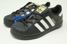 Adidas Superstar C # BA8379 Black & White Pre School Little Kids SZ 10.5 - 3