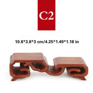 Annatto Display Stand Wood Carving Pedestal Bonsai Base Desk Home Ornament Brown