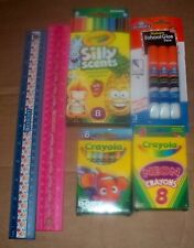 Lot Of Children'S Art Supplies Kids Silly Scent Markers Crayons Glue Rulers New