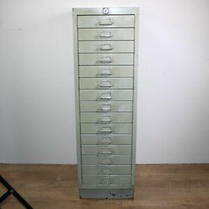 Steel 15x drawer workshop craft studio storage cabinet tools garage mechanics