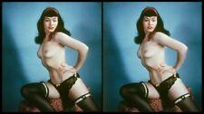 18 Stereofotos von Fetish-Diva Bettie Page (1950) Serie 2, Format: 15cm*9cm