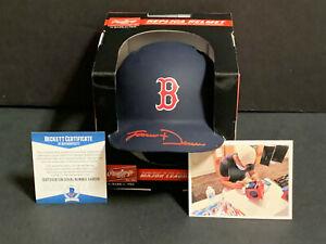 Jarren Duran Boston Red Sox SIGNED BLUE MATTE Mini Helmet Beckett ROOKIE COA ~
