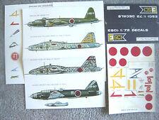 "MITSUBISHI KI-87/109/G-4M NAKAJIMA RENZAN ""4 JAPANESE"" ESCI DECALS 1/72"