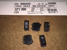 (5 piece lot) 1552.2602, Marquardt Switches, ROCKER ON/OFF SWITCH DPST
