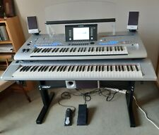 Yamaha Tyros 4 with Piaggero NP31S keyboard on TRX double stand and speakers