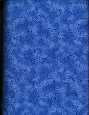 Sunflower Fiesta cotton quilt fabric by P&B  BTY Blue Scrolling Tonal