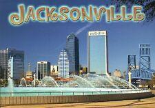 Jacksonville Florida Friendship Fountain, Main Street Bridge Downtown - Postcard