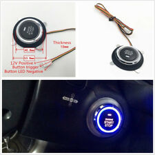1*Car Vehicle Blue LED Engine Push Start Stop Button Ignition Starter Switch 12V