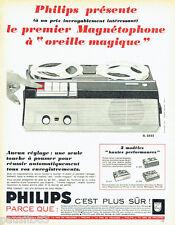 PUBLICITE ADVERTISING 026  1965  Philips  magnétophone oreille magique  EL 3552