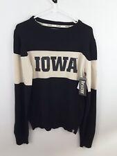 Iowa Hawkeyes Men's Winter Sweater Bruzer Black & Cream Size XS