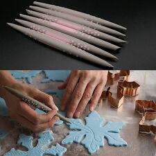 6PCS Cake Decorating Sugar Paste Fondant Clay Sculpting Carving Modelling Tools