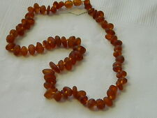 Baltic Amber Necklace Natural Semi Polished Dark Honey Stones