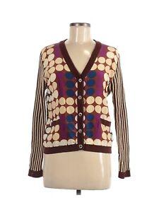 2012 MARNI at H&M Geometric Print Cotton Long Sleeve Cardigan - US 6 MINT!
