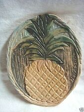 UNIQUE Handcrafted Pottery PINEAPPLE PLAQUE by DALE CLARENCE PETERSON