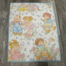 "Vintage Cabbage Patch Kids Baby Quilt Handmade 1980's Crib Nursery 22"" x 29"""