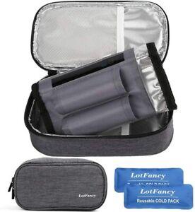 Insulin Cooler Travel Case Diabetic Medication Cooler Ice Packs Insulation Liner