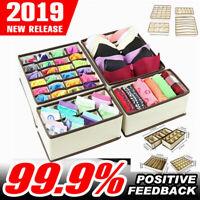 4 Closet Organizer Box Underwear Bra Sock Glove Scarves Storage Drawer Divider