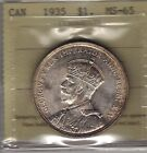 1935 Canada Silver Dollar Coin. ICCS MS-65