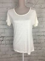 PRIMARK - Ivory Casual Lace Batwing Top - Short Sleeve - Womens - Size 10/12