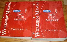 Original 2007 Ford F-150 Lincoln Mark LT Shop Service Manual Volume 1 & 2 Set