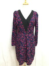 NWT NEW I Heart Ronson Multi-Color Floral Print V-Neck Party Cocktail Dress 10 M