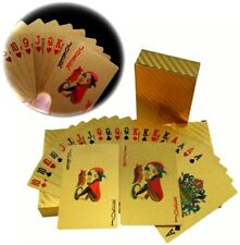 Pokerkarten Vergoldete Spielkarten Poker Skat Gold Karten Geschenk Wasserdicht