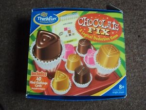 Thinkfun CHOCOLATE FIX PUZZLE BOARD GAME COMPLETE VGC FREE UK POST