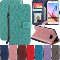 Wallet Flip Leather Case Stand Cover For Samsung Galaxy J2 CORE J4 J6 + J7 J8