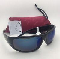 6c01a83ef38 New SUNCLOUD POLARIZED OPTICS Sunglasses TURBINE Black Frames with Blue  Mirror