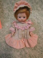 "cp-1254 All-bisque doll; by artist Elke Hutchins, Imsco; dress & bonnet; 7"" tall"