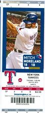 2013 Rangers vs Yankees Ticket: Mariano Rivera save #640/ Mitch Moreland HR