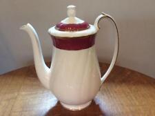 Wedgwood Crown Ruby bone china coffee pot ca. 1991