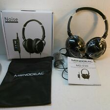 Active Noise Cancelling Headphones With Mic, MonoDeal Overhead Strong Bass