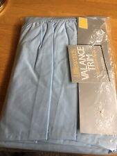 1 Double pale Blue Valance Trim for Bed Base in original packaging from