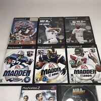 Lot 8 Sports Games Madden PlayStation 2 PS2 Football 2001 & 2003 2004 CIB/Manual