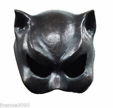 Halloween Black Cat Girl Batman Superhero Fancy Dress Latex Rubber Catwoman Mask