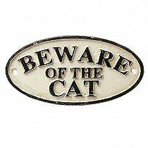 Heaven Sends Wall Plaques - Beware Of The Cat by Heaven Sends